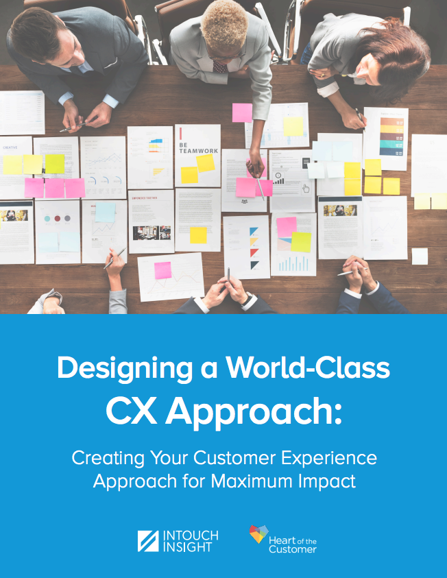Designing a World Class CX Approach whitepaper cover